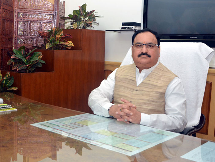 J.P.Nadda_takes_charge_as_Union_Health_Minister_in_Nirman_Bhavan